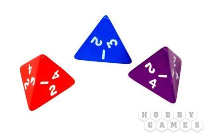 Изображение Непрозрачный кубик d4 в ассортименте