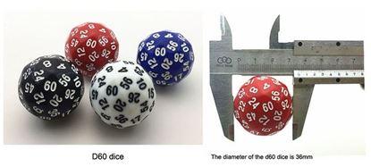 Изображение Непрозрачный кубик d60-в ассортименте