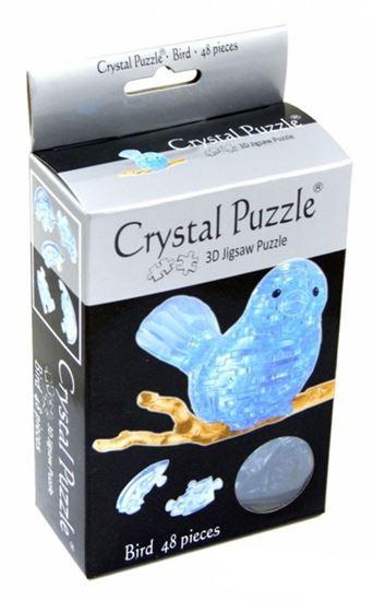 """Изображение Crystal Puzzle: Головоломка 3D """"Птичка на ветке"""""""