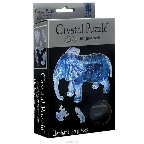 """Изображение Crystal Puzzle: Головоломка 3D """"Слон"""" арт.9058"""
