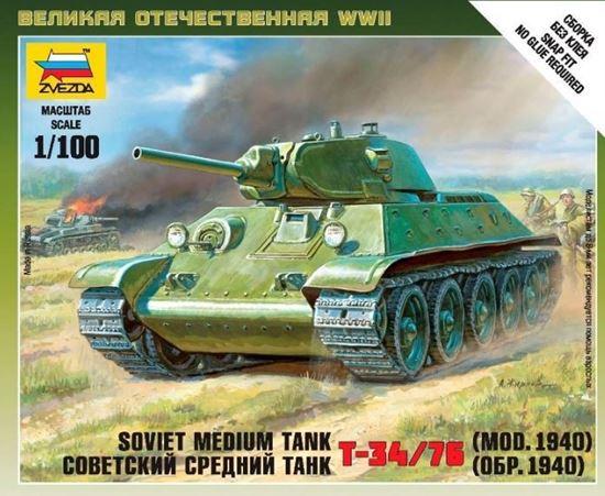 Изображение Звезда: 6101 Советский средний танк Т-34/76 (1940)