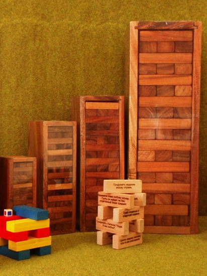 Изображение Thai wood: Башня в деревянном футляре Средня M23,5