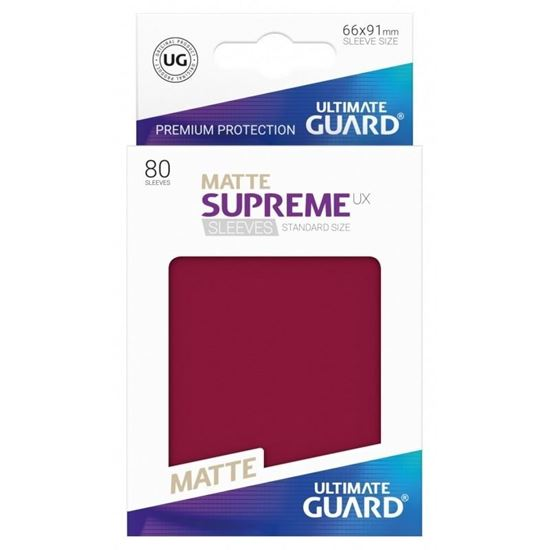 Ultimate Guard: 66*91 STANDARD SIZE  MATTE BURGUNDY